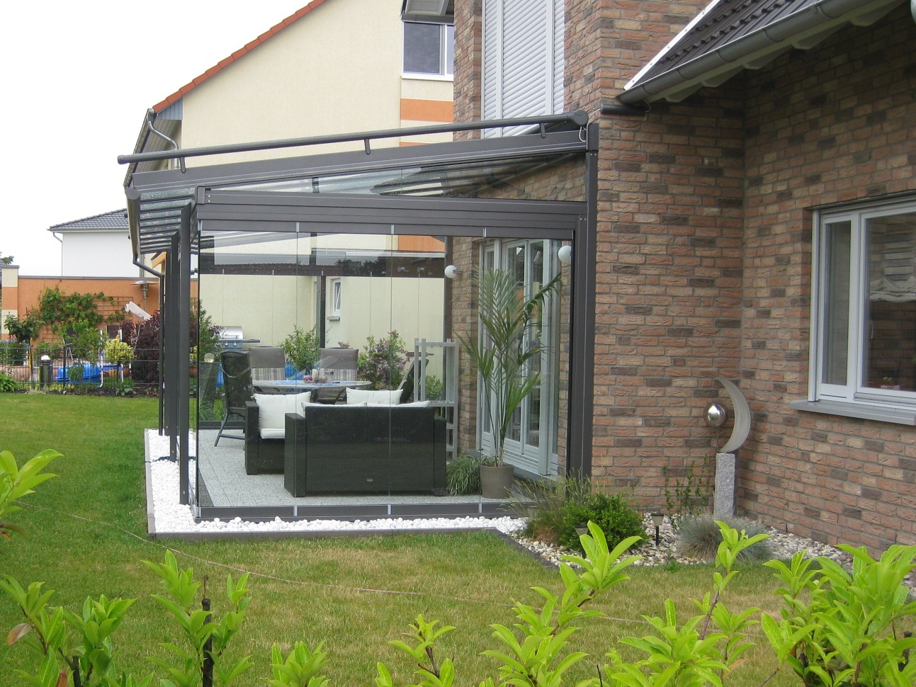 Solarlux Lichtdachsystem Atrium mit SL25 Unterbau