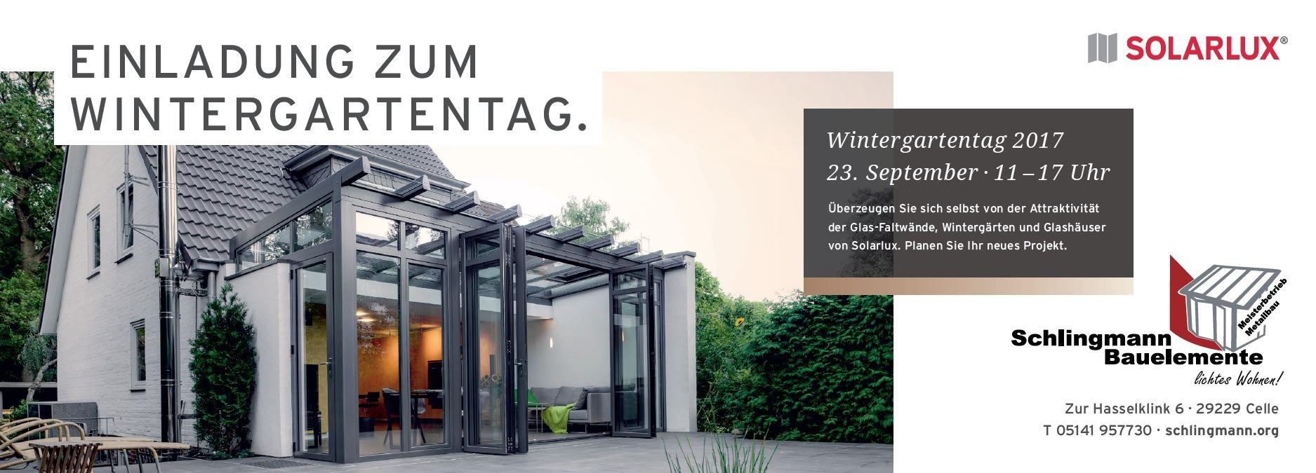 Einladung zum Wintergartentag am 23. September 2017