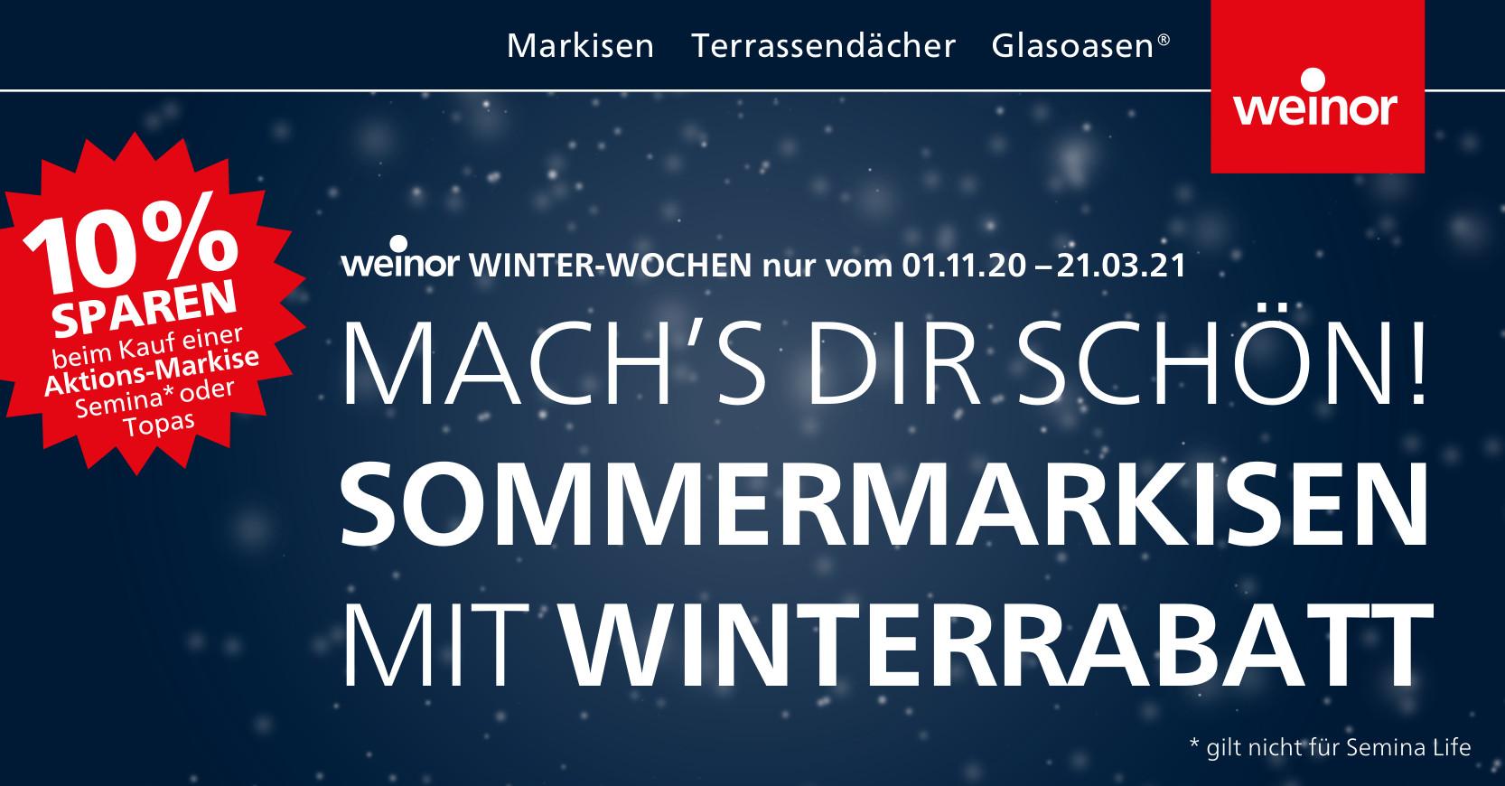 Weinor Winterwochen